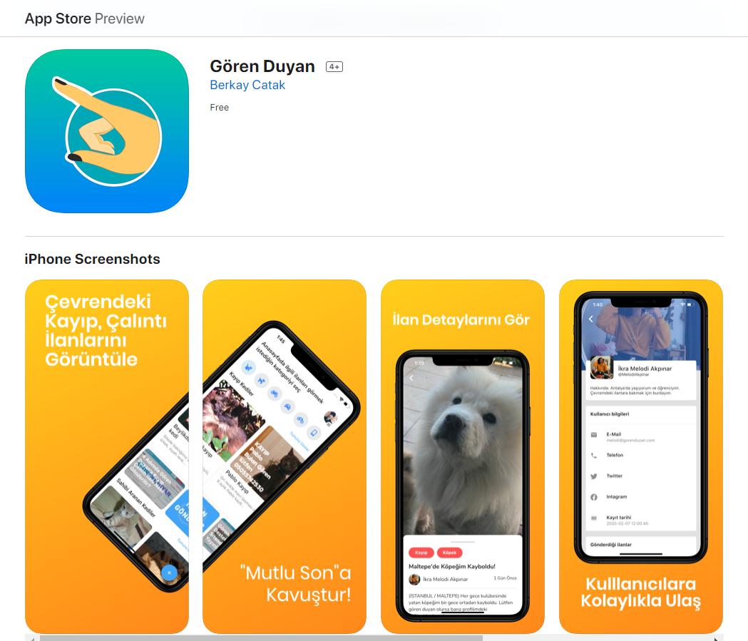 Gören Duyan App Store